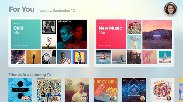 Apple TV - your music